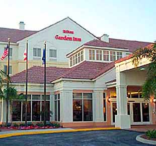 View of the Hilton Garden Inn of Boca Raton